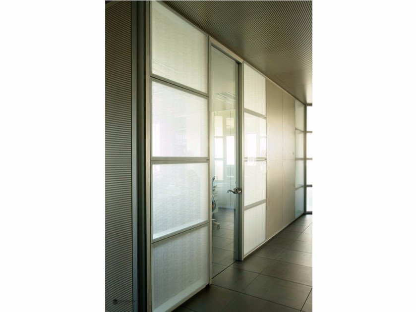 Decorated glass partition wall DECORFLOU® DESIGN CELS by OmniDecor®