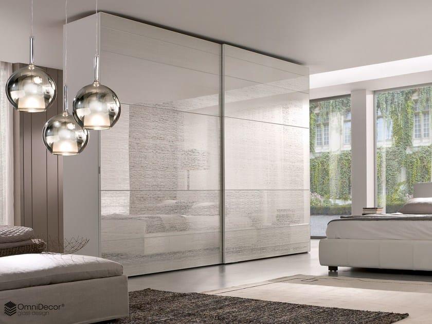 Decorated glass furniture foil DECORFLOU® DESIGN FUZZ - OmniDecor®