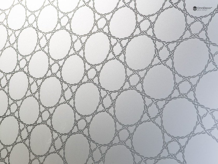 Decorated glass wall tiles DECORFLOU® DESIGN MESH - OmniDecor®