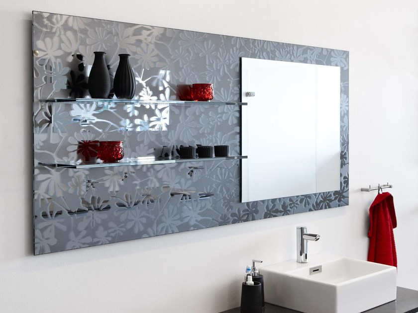 Decorated glass furniture foil DECORFLOU® DESIGN TRE - OmniDecor®