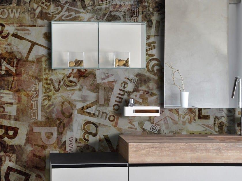 Glass-fibre bathroom wallpaper DECUPAGE by Wall LCA