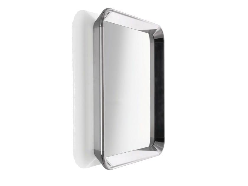 Square wall-mounted framed mirror DEJÀ-VU | Square mirror by Magis