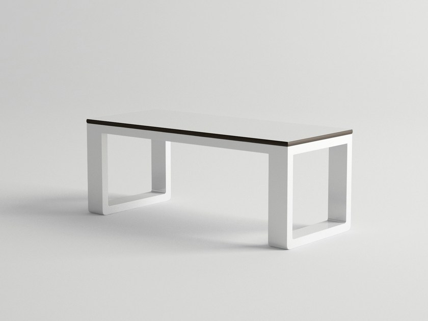 Rectangular aluminium garden side table DELAZ | Garden side table - 10Deka