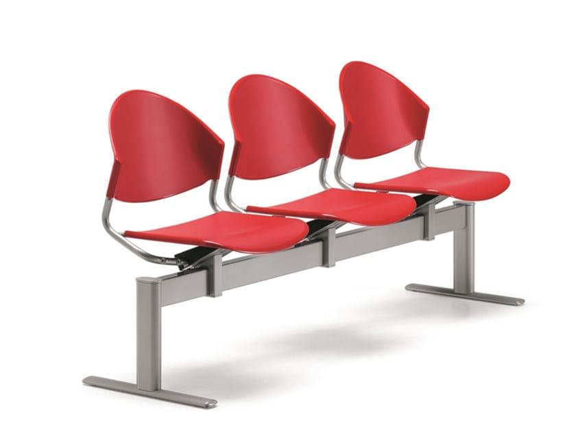 Seduta su barra a pavimento in polipropilene DELFI 086 B3 - TALIN