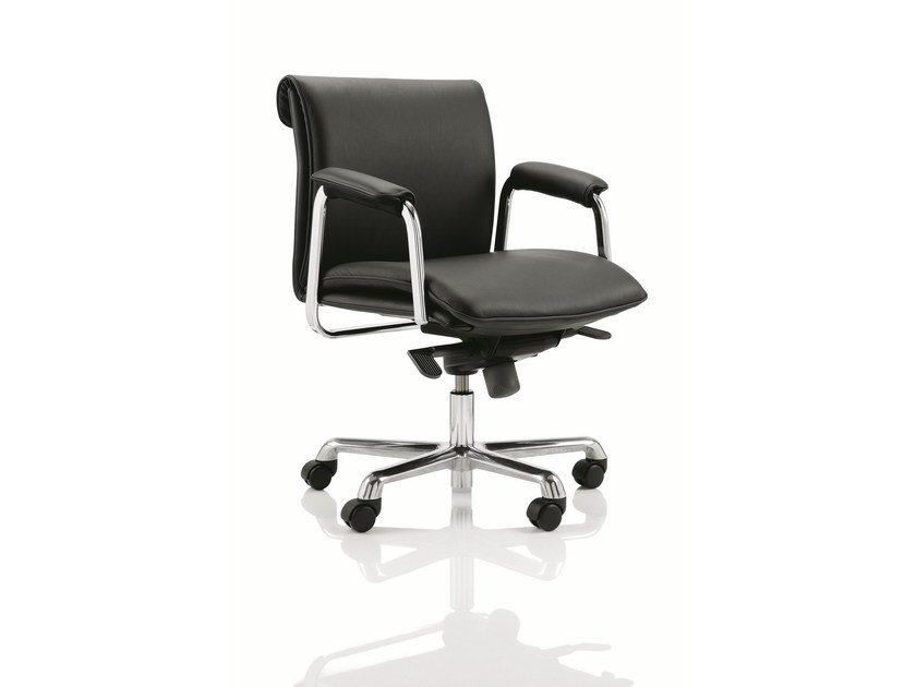 Leather task chair DELPHI - Boss Design