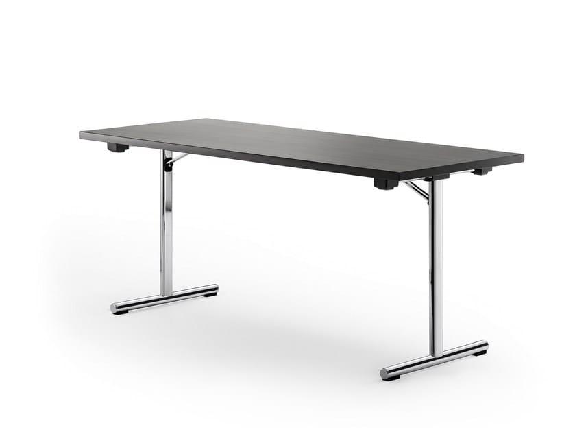 Folding rectangular table DELTA 110 by rosconi