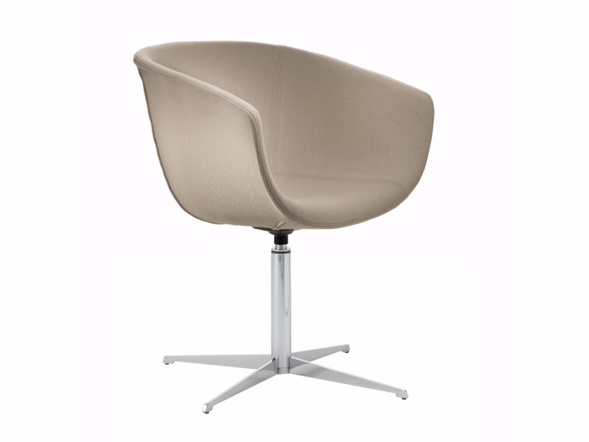 Fabric easy chair with 4-spoke base DERBY | Easy chair with 4-spoke base - Segis