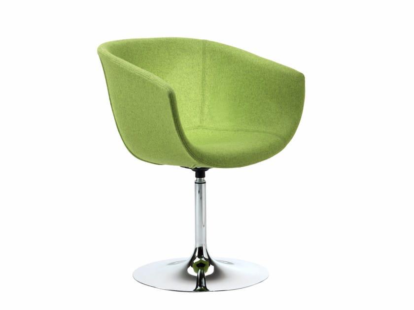 Swivel fabric easy chair DERBY I0032 - Segis