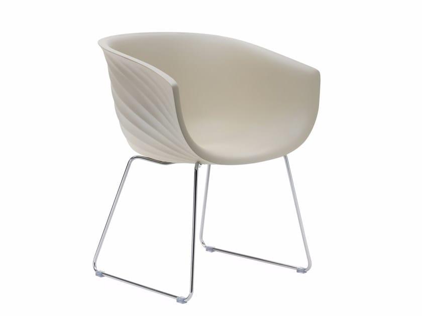 Sled base polyurethane easy chair DERBY S0090 - Segis