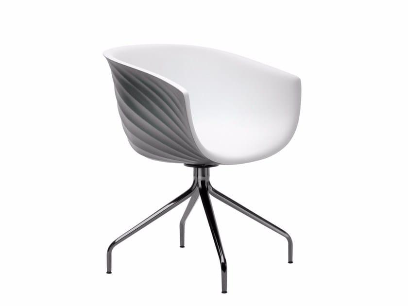 Trestle-based polyurethane easy chair DERBY | Trestle-based easy chair - Segis
