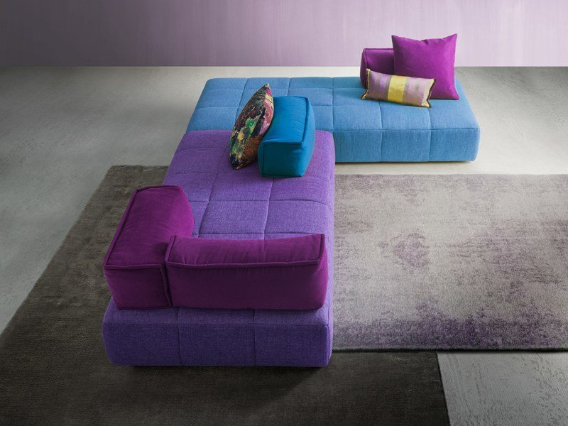 Corner sectional fabric sofa MOSS | Corner sofa - Divanidea