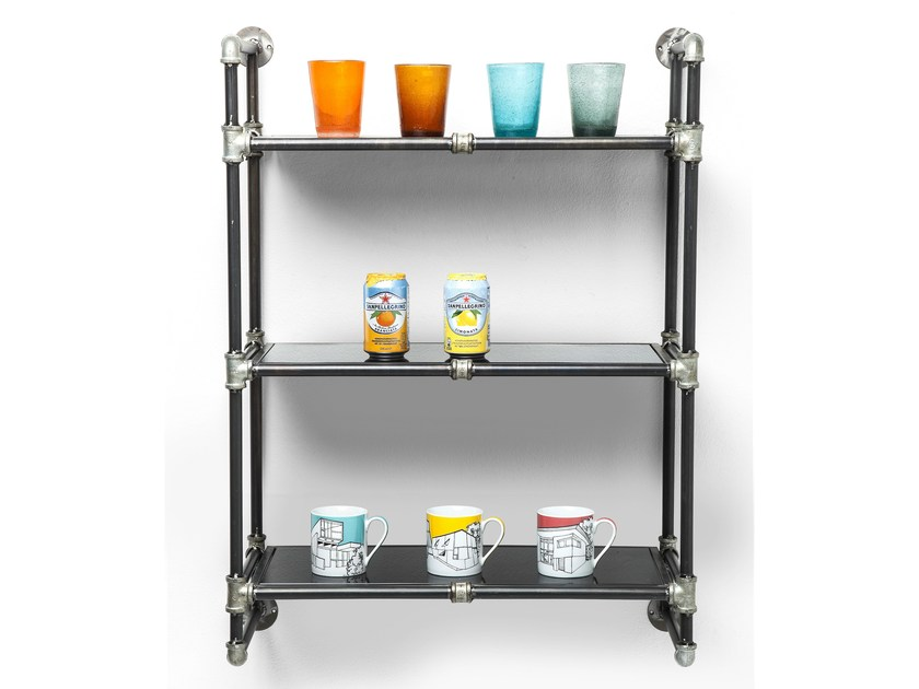 Open wall-mounted iron bookcase DETOUR | Wall-mounted bookcase - KARE-DESIGN