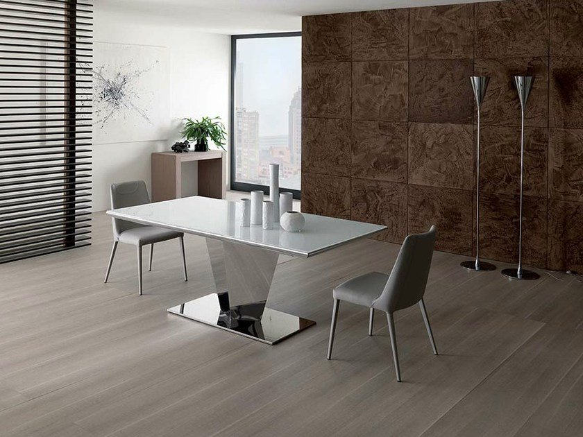 Extending dining table DIAMANTE by Ozzio Italia