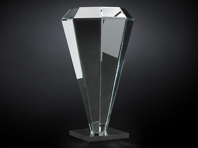 Mirrored glass pedestal DIAMANTE | Mirrored glass pedestal - VGnewtrend
