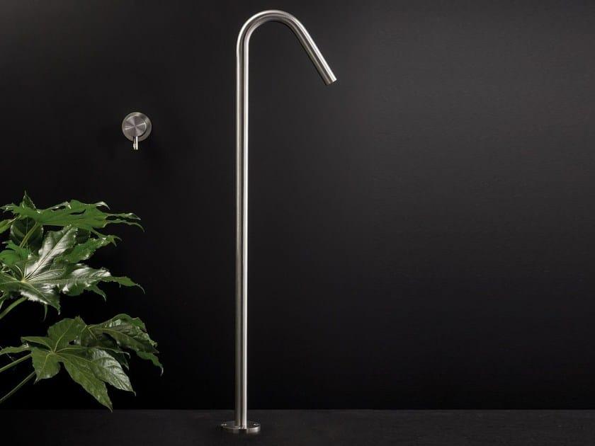 Floor standing stainless steel spout DIAMETRO35 INOX | Floor standing spout - RUBINETTERIE RITMONIO