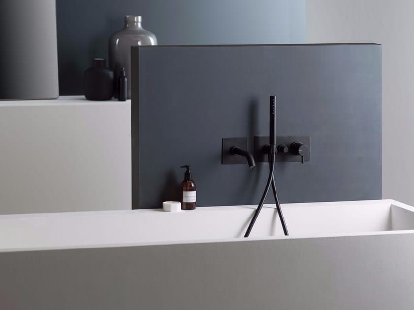 Bathtub mixer with diverter with hand shower DIAMETROTRENTACINQUE   Bathtub mixer with plate by RITMONIO