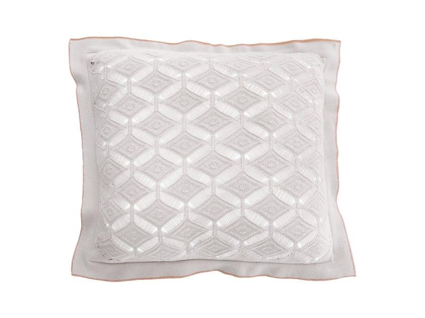 Cuscino quadrato in cotone DIAMON LACE LARGE | Cuscino quadrato by Sans Tabù