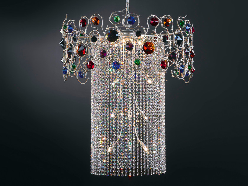 Halogen pendant lamp with crystals DIAMOND | Halogen pendant lamp by Serip