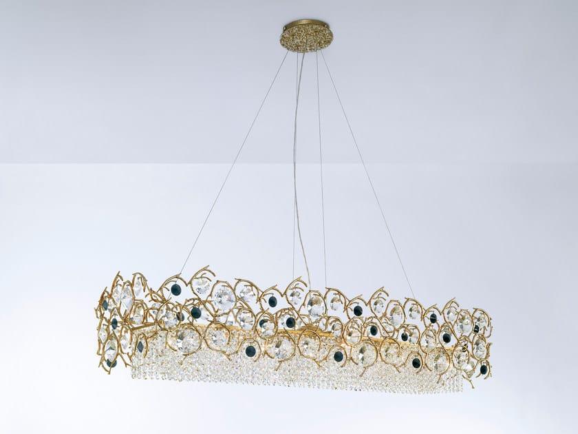Halogen pendant lamp with crystals DIAMOND   Pendant lamp with crystals by Serip