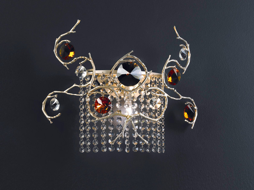 Halogen bronze wall lamp with crystals DIAMOND | Wall lamp by Serip