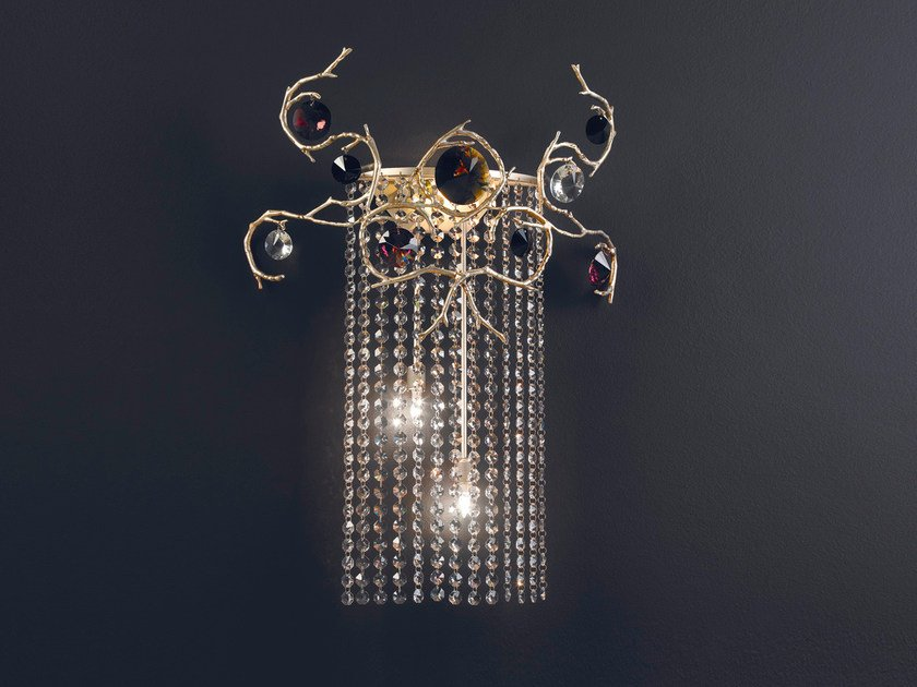 Halogen bronze wall lamp with crystals DIAMOND   Wall lamp with crystals by Serip