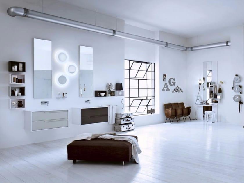 Laminate bathroom cabinet / vanity unit DIECI - Composizione 1 by INDA®