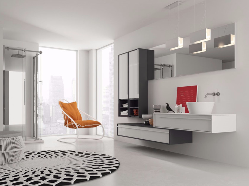 Laminate bathroom cabinet / vanity unit DIECI - Composizione 4 by INDA®