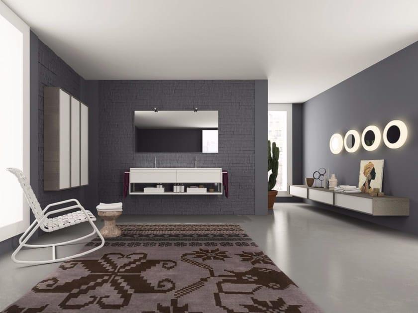 Laminate bathroom cabinet / vanity unit DIECI - Composizione 5 - INDA®