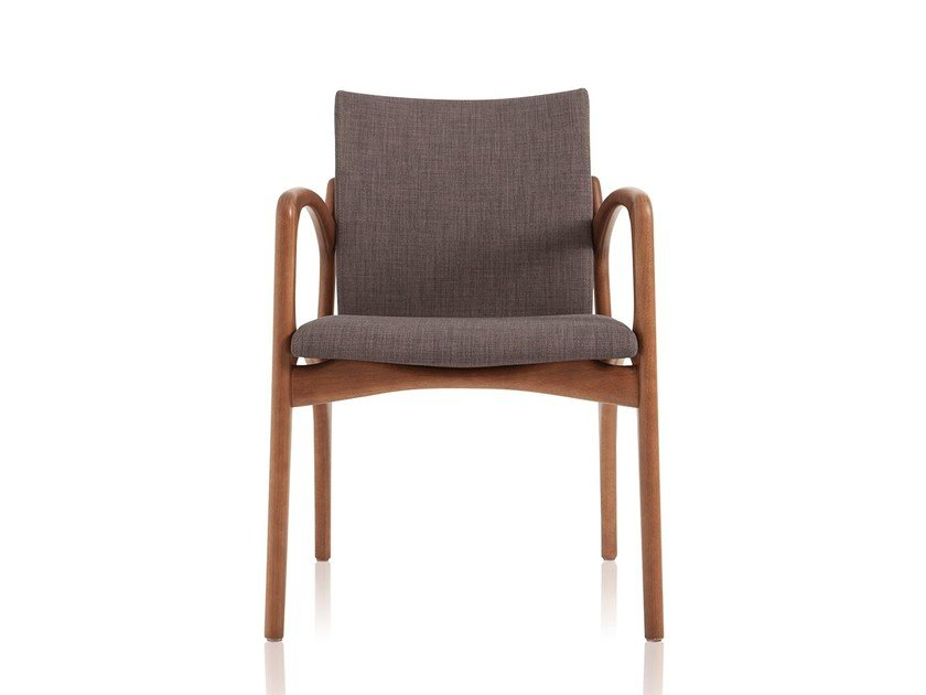 Upholstered fabric chair with armrests DINNA 148 - Sollos