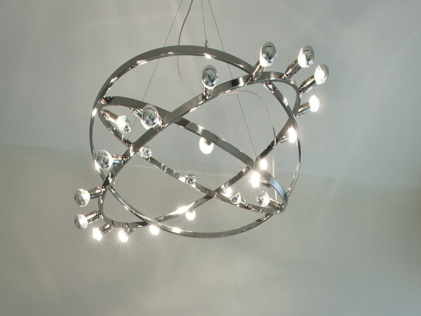 Stainless steel pendant lamp DIONE | Stainless steel pendant lamp - LICHT IM RAUM