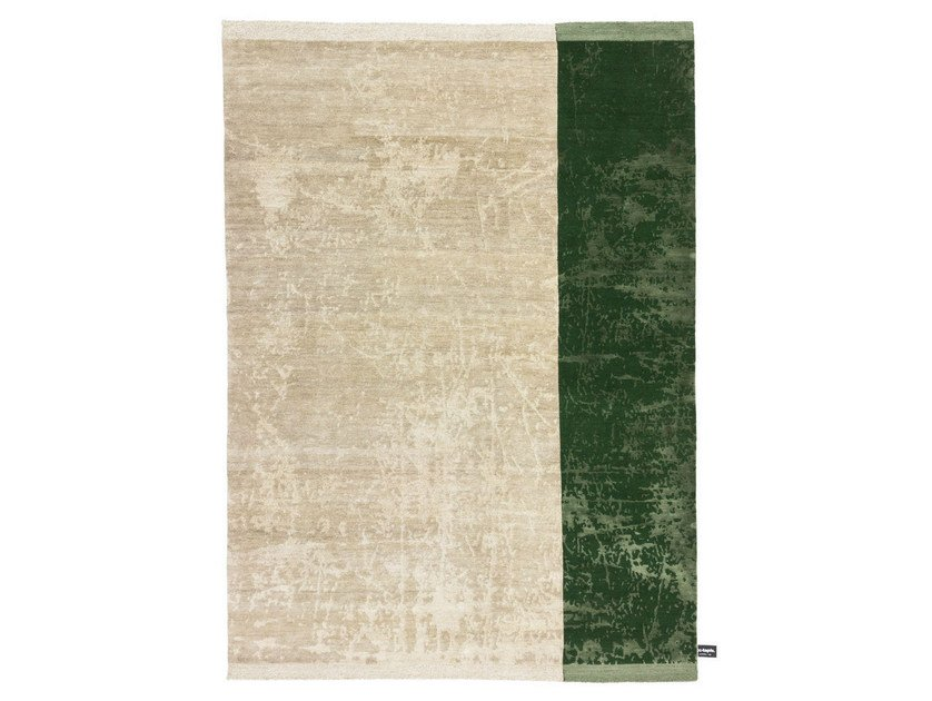 Rectangular striped wool rug DIPPED SCRATCH | Striped rug - cc-tapis ®