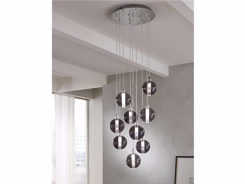 Lampada a sospensione a luce diretta in vetro soffiato ECLISSE | Lampada a sospensione a luce diretta - Cangini & Tucci