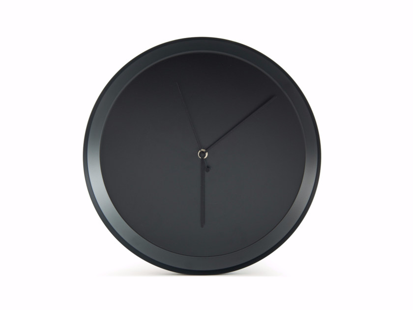 Wall-mounted painted metal clock DISH by Atipico