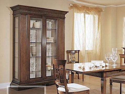 Solid wood display cabinet CARAVAGGIO | Display cabinet - Arvestyle
