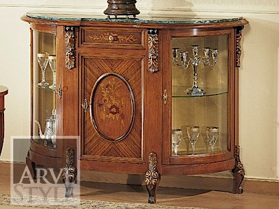 Solid wood display cabinet ELEONORA | Display cabinet by Arvestyle