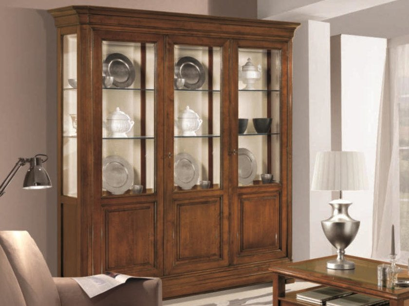 Solid wood display cabinet AMALFI   Display cabinet by Arvestyle