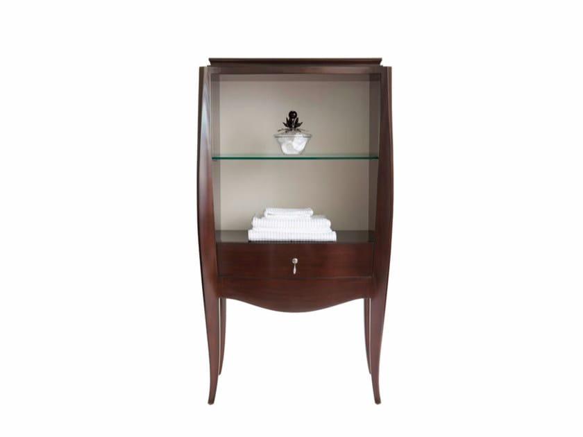 Open floorstanding wooden bathroom cabinet HERALD | Open bathroom cabinet by GENTRY HOME