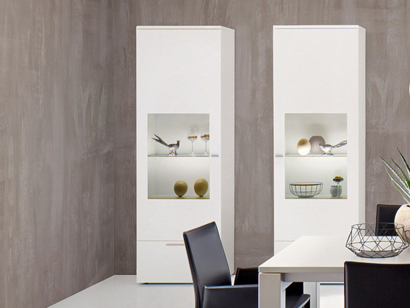 Lacquered display cabinet with integrated lighting NURIA | Display cabinet - Hülsta-Werke Hüls