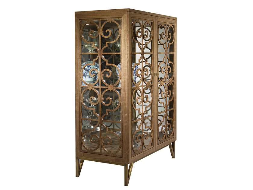 Wood and glass display cabinet GRANADA | Display cabinet by Mobi