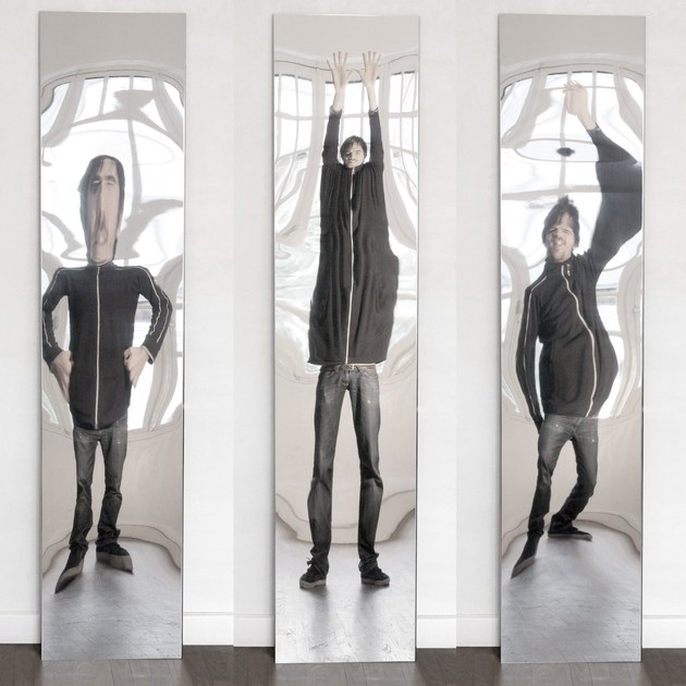Rectangular wall-mounted hall mirror DISTORTING MIRROR | Hall mirror by VIDAME CREATION