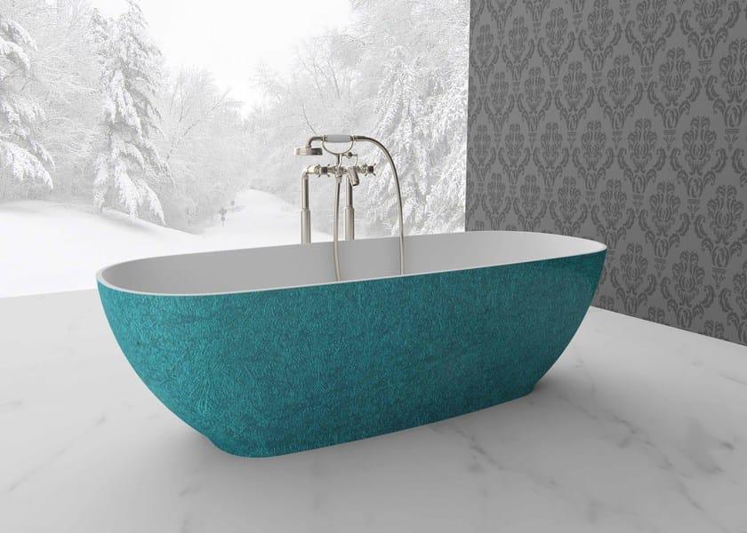 Freestanding oval bathtub DIVA - Flora Style