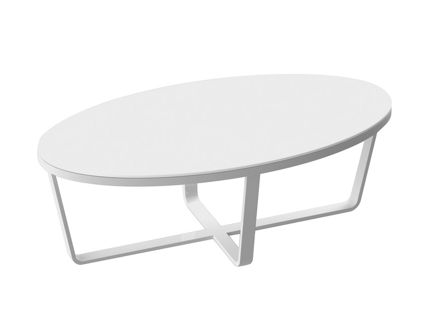 Lacquered coffee table DIVA | Oval coffee table - solpuri