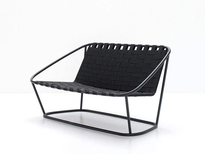 Steel and elastic strapes garden bench SMALL SOFA - arflex