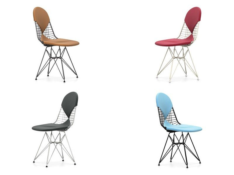 Sedia in metallo dkr 2 collezione wire chair by vitra for Sedia design vitra