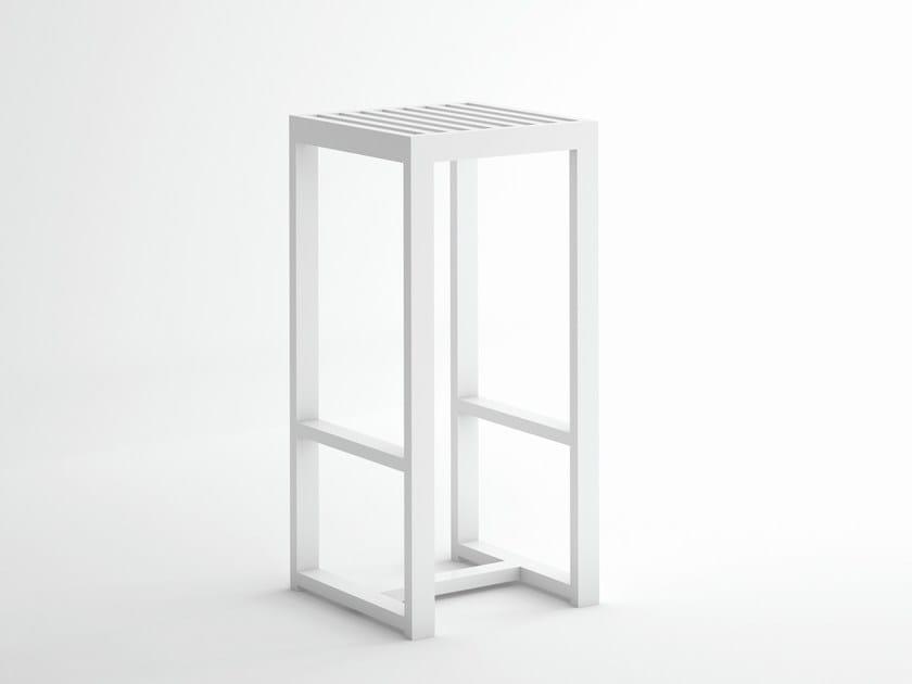 High aluminium barstool with footrest DNA | High stool by GANDIA BLASCO