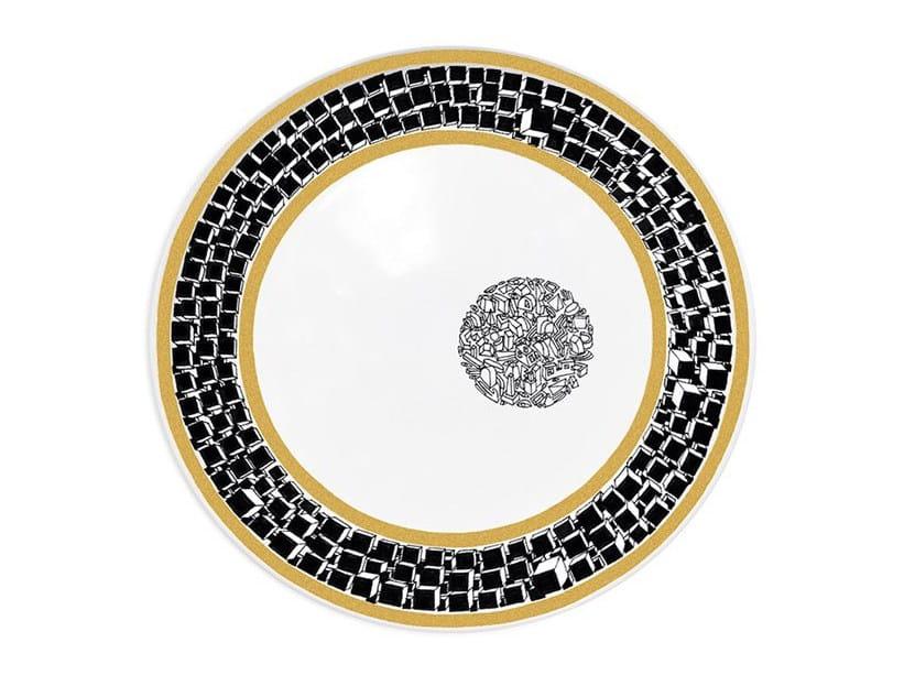 Ceramic dinner plate DOCTRINE - Kiasmo