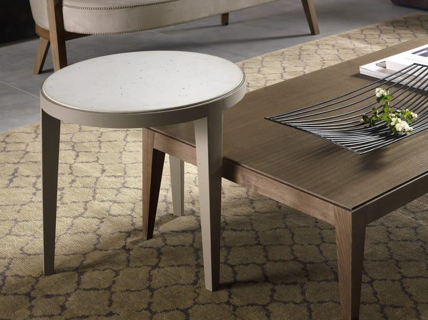 Tavolino basso rotondo DOMINIQUE | Tavolino in Cimento® - Pacini & Cappellini