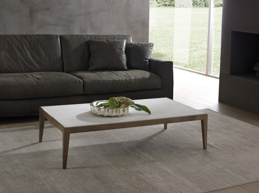 Low Cimento® coffee table DOMINIQUE | Rectangular coffee table - Pacini & Cappellini