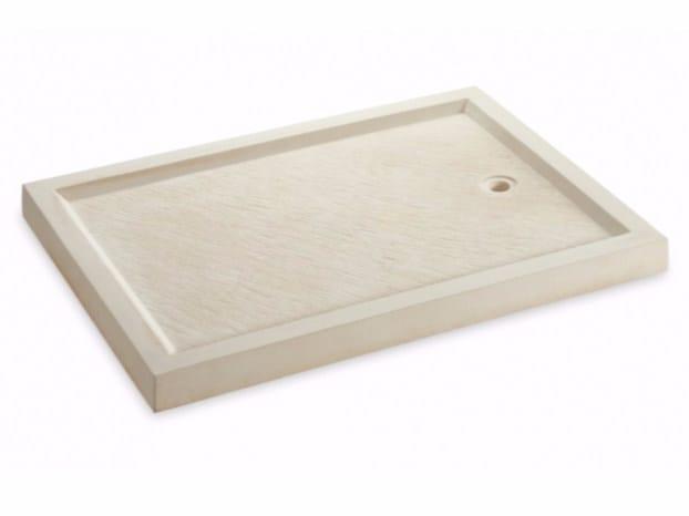 Reconstructed stone shower tray DOMUS | Shower tray - SAS ITALIA - Aldo Larcher