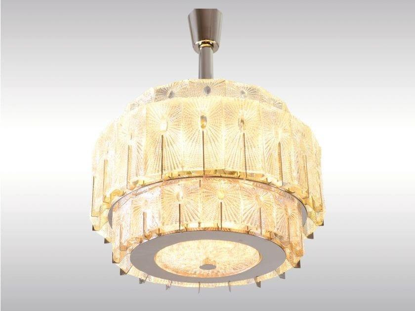 Classic style glass pendant lamp DORIA CHANDELIER by Woka Lamps Vienna